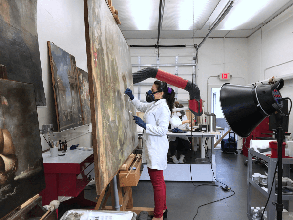 cleaning of paintings